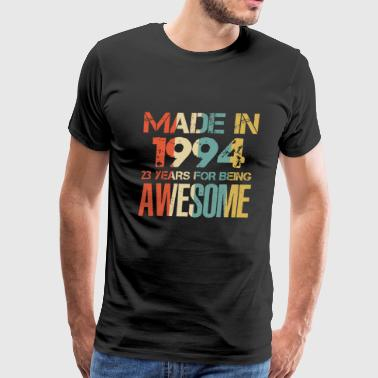 September 24 Made In 1994 24 Years Of Awesomeness t-shirt - Men's Premium T-Shirt