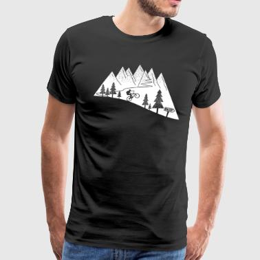 mountain bike cycling bicycle - Men's Premium T-Shirt
