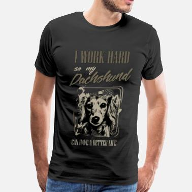 Dashi Dachshund dog  - Doxie - Men's Premium T-Shirt