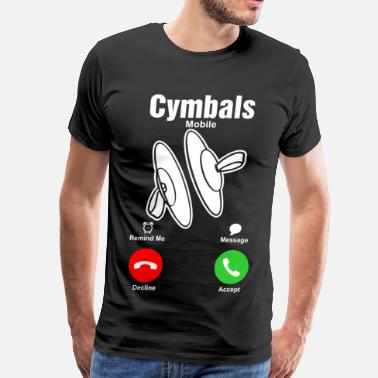 Fuck The Message Cymbals Mobile Tshirt - Men's Premium T-Shirt