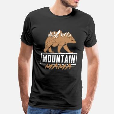 Wanderful Mountain mama Black Bear Brown Bears Wandering - Men's Premium T-Shirt
