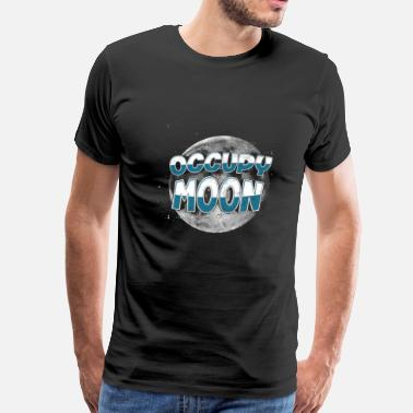 Rocket Moon Occupy Moon SpaceX Elon Musk NASA Space Astronomy - Men's Premium T-Shirt