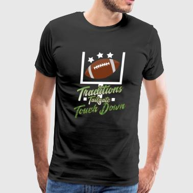 Play Rugby American Football Touchdown - Men's Premium T-Shirt