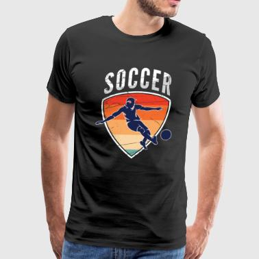 Kicking Soccer - Men's Premium T-Shirt