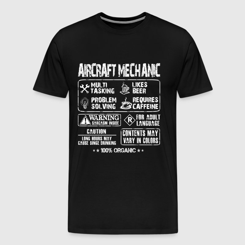 Aircraft mechanic - Mechanic multi tasking t - shi - Men's Premium T-Shirt