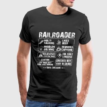 Railroader - Awesome railroader's task t-shirt - Men's Premium T-Shirt