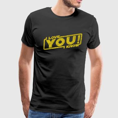 i love you i know movie quote Leia Han Blockbuster - Men's Premium T-Shirt