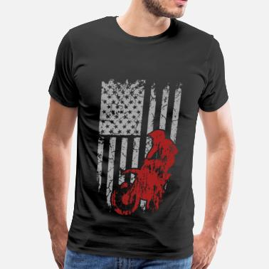 Gay Offroad Vehicles Dirt bike - Awesome t-shirt for american biker - Men's Premium T-Shirt