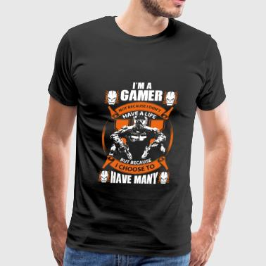 COD-COD gamers choose to have many lives - Men's Premium T-Shirt