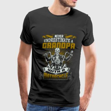 Motorcycle - Grandpa with a motorcycle cool shirt - Men's Premium T-Shirt