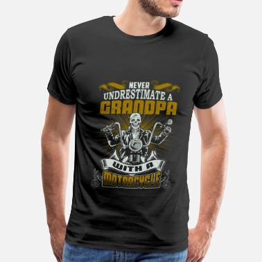 Motorcycle Grandpa Motorcycle - Grandpa with a motorcycle cool shirt - Men's Premium T-Shirt