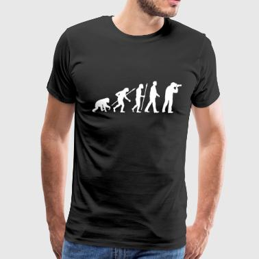 evolution_of_man_photographer_a_1c - Men's Premium T-Shirt