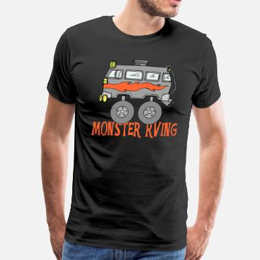 Rv Camp Monster RV Camping - Men's Premium T-Shirt