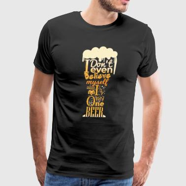 funny beer typography design - Men's Premium T-Shirt