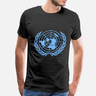 United United Nations Symbol - Men's Premium T-Shirt