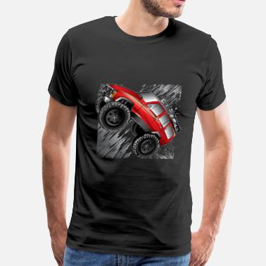Jeep Cherokee Xj XJ Jeep Cartoon Red - Men's Premium T-Shirt