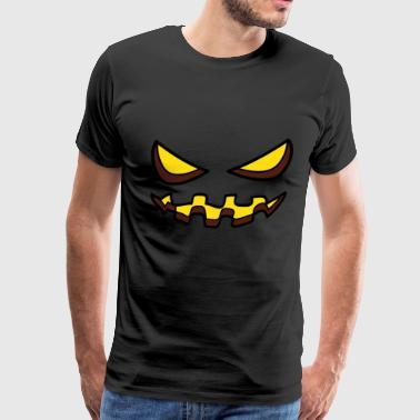 Halloween Monster Zombie Scary Horror Pumpkin Face - Men's Premium T-Shirt