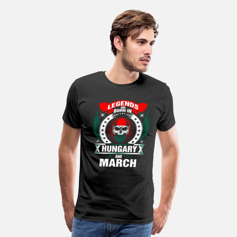 Birthday T-Shirts - Legends born in Hungary and March - Men's Premium T-Shirt black
