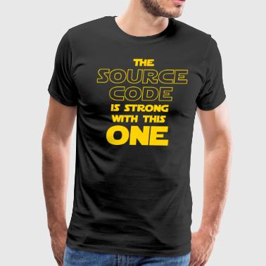 Source Code THE SOURCE CODE IS STRONG WITH THIS ONE - Men's Premium T-Shirt