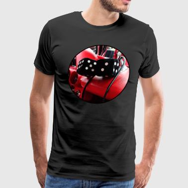 Fuzzy Fuzzy Dice in Chevy - Men's Premium T-Shirt