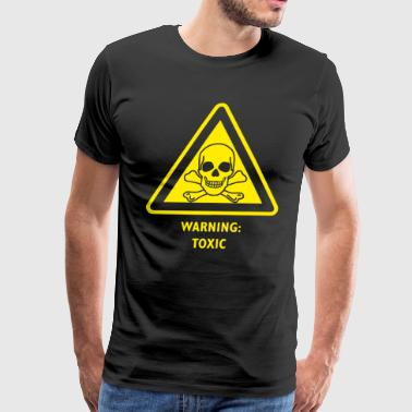 Toxic Hazard Laboratory Poison Substance Warning - Men's Premium T-Shirt
