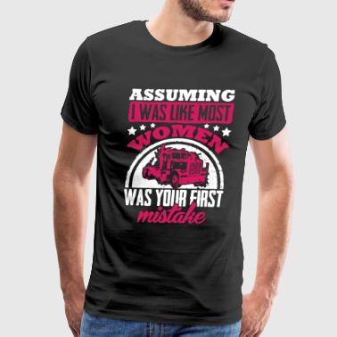 Asuming Trucker Women - Men's Premium T-Shirt