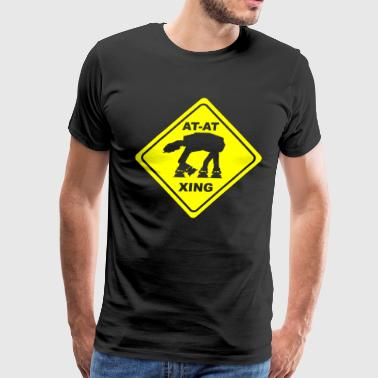 At crossing - Men's Premium T-Shirt