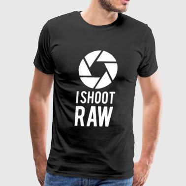 I Shoot Raw Funny Photograph - Men's Premium T-Shirt