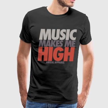 Make Music music makes me high - Men's Premium T-Shirt