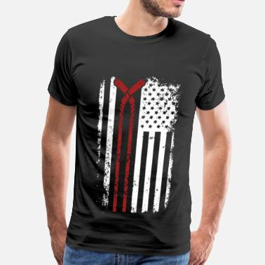 Hockey Goalie Hockey player - American flag T-shirt - Men's Premium T-Shirt
