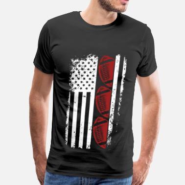 e12ba631 Funny Football Usa Football - Football flag t-shirt for American - Men's  Premium T