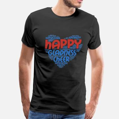Happy Wheels Happy gladness cheer awesome t-shirt - Men's Premium T-Shirt