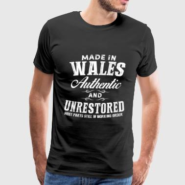 Welsh Rugby Wales - Made in Wales and unrestored t-shirt - Men's Premium T-Shirt