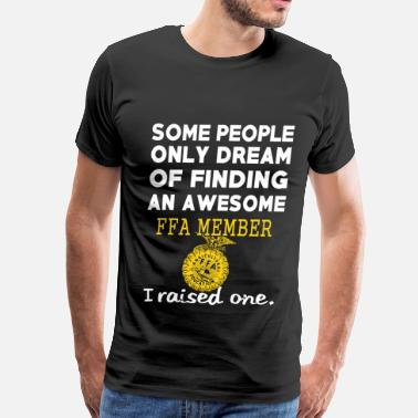 Buffalo Finding an awesome FFA member - I raised one - Men's Premium T-Shirt