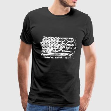 Skiing Flag Shirt - Men's Premium T-Shirt