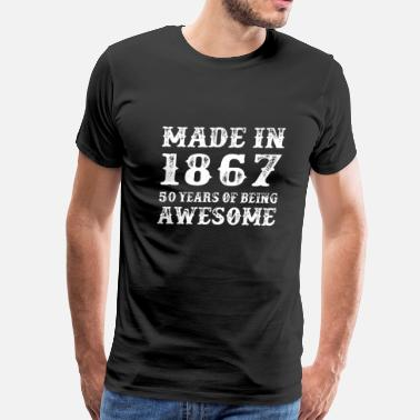 Born To Perfection May Made in 1968 50 years of being awesome t-shirt - Men's Premium T-Shirt