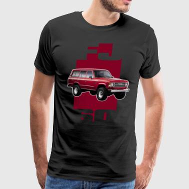 RED FJ60 STRIPE - Men's Premium T-Shirt