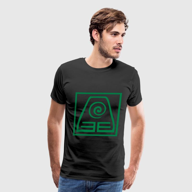 The earthbending symbol - Men's Premium T-Shirt