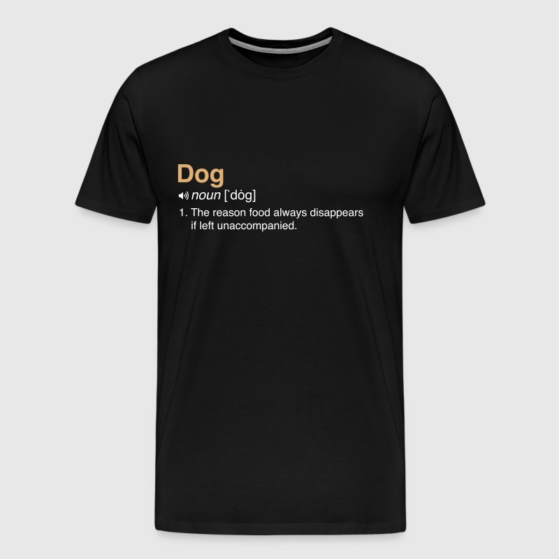 Funny Dog Definition - Men's Premium T-Shirt