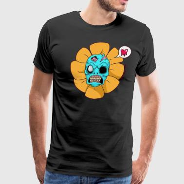 Skull Flower - Men's Premium T-Shirt