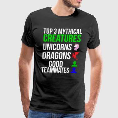 Mythical Creature Mythical Creatures Funny Gamer T-shirt - Men's Premium T-Shirt