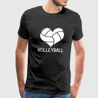 I Love Volleyball Heart for Teens - Men's Premium T-Shirt