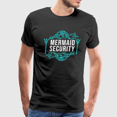 Mermaid security Lifeguard Swimming Teacher Merman - Men's Premium T-Shirt