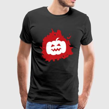 Funny Blood Pumpkin Scary Creepy Spooky Halloween - Men's Premium T-Shirt
