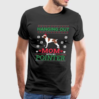 Pointer Ugly Christmas Sweater Xmas Gift - Men's Premium T-Shirt