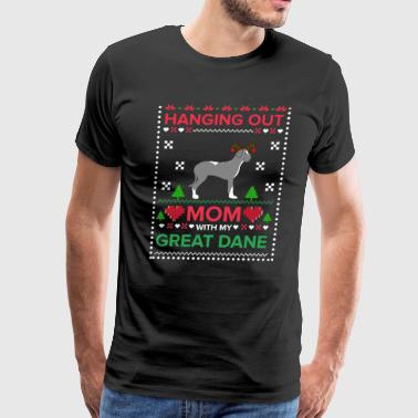 Great Dane Ugly Christmas Sweater Xmas Gift - Men's Premium T-Shirt