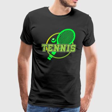 Backhand Funny Tennis Player Tennis Racket I Love Tennis Ball - Men's Premium T-Shirt