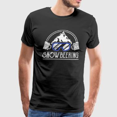 Apres-ski Skiing With Beer Snowboarding Snowboarder Snowboard Beer Alcohol - Men's Premium T-Shirt