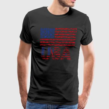USA Weapon Flag - Men's Premium T-Shirt