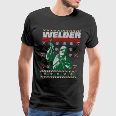 Welder Ugly Christmas Welder Christmas Ugly Sweater - Men's Premium T-Shirt